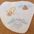 海の天使の刺繍