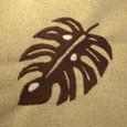 葉っぱの刺繍